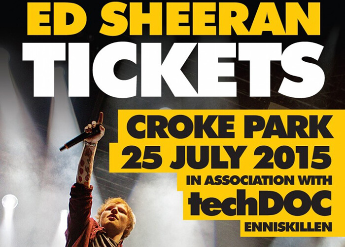 Poster for our Ed Sheeran Tickets competition.
